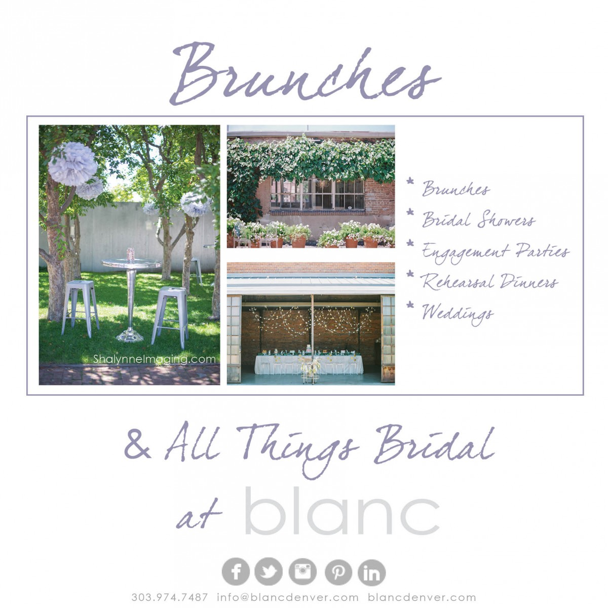 Brunches & All Things Bridal at blanc!